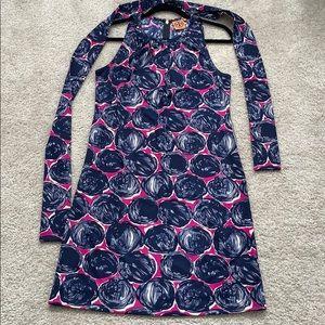 Tory Burch sleeveless tunic dress with belt wrap
